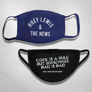HLN - Arched Logo  Blue and Bad is Bad Black Face Mask -
