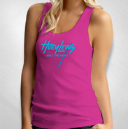 HLN - Women's Berry Vintage Triangle Logo Tank