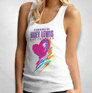HLN - Women's White Heart of Rock N' Roll Tank