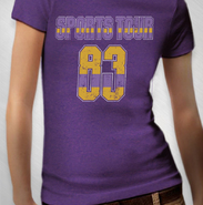 HLN - Women's Purple Vintage '83 Sports Tour V-Neck Tee