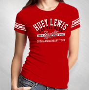 HLN - Women's Red Sports 30th Ann. Football Tee