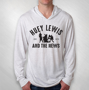 HLN -   White Hthr Silhouette Tri-Blend Hooded Tee