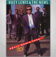HLN  -  Small World Tour Program - SIGNED BY HUEY LEWIS